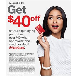 $40 Off $40 Red Card Coupon (8/1)