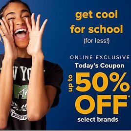 50% Off Select Brands Online Exclusives