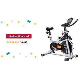 Limited-time Deal: YOSUDA Indoor Cycling Bike Stationary - Cycle Bike with Ipad Mount &Comfortable Seat Cushion (Gray)