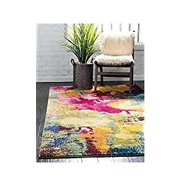 Unique Loom Estrella Collection Colorful Abstract Area Rug, 8 X 11 Feet for $144.49
