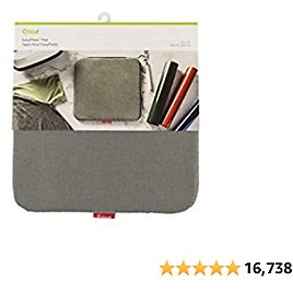 """Cricut Easy 12""""x12"""" EasyPress, Protective Resistant Mat for Heat Press Machines and HTV and Iron On Projects, [12"""" X 12""""], Gray"""