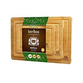 3-Pack Royal Craft Wood Bamboo Cutting Board Set with Juice Groove for $20.97