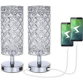 Crystal Table Lamp Set of 2 Bedside Lamp🌟🌟.
