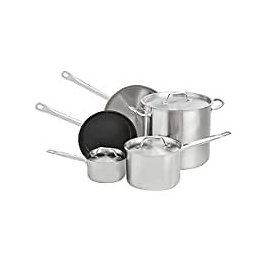 Amazon Commercial 8-Piece Stainless Steel Induction Ready Cookware Set for $114.56