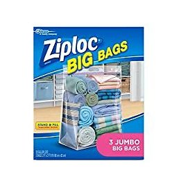 3-Count Ziploc Double Zipper Seal & Expandable Bottom Storage Bags for $6.17
