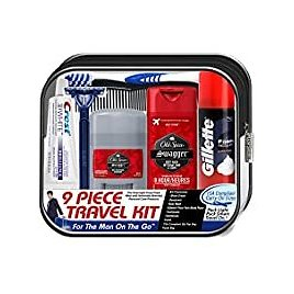 9-Piece Convenience Kits Men's Deluxe Man On The Go Travel Kit for $4.87