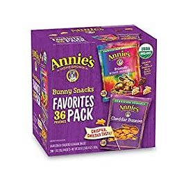 36-Count Annie's Homegrown Bunny Snacks Variety Pack for $8.91