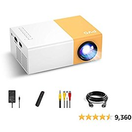 Mini Projector, PVO Portable Projector for Cartoon, Kids Gift, Outdoor Movie Projector, LED Pico Video Projectors.