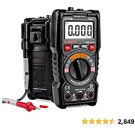 KAIWEETS Digital Multimeter Auto-Ranging Meter, TRMS 4000 Counts Meter Voltage Tester Voltmeter, Continuity Measures, 1.5v/9v Battery Tester, Capacitance Measure with NCV Function
