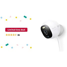 Limited-time Deal: Eufy Security Solo OutdoorCam C24, All-in-One Outdoor Security Camera with 2K Resolution, Spotlight, Color Night Vision, No Monthly Fees, Wired Camera, Security Camera Outdoor, IP67 Weatherproof