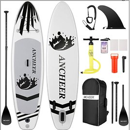 ANCHEER Inflatable Stand Up Paddle Board (6 Inches Thick), ISUP Package W/Premium SUP Accessories & Backpack,