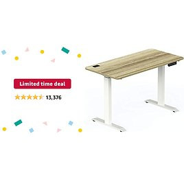 Limited-time Deal: SHW Electric Height Adjustable Standing Desk, 48 X 24 Inches, Oak