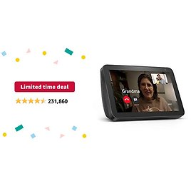 Limited-time Deal: Echo Show 8 (1st Gen, 2019 Release) - HD Smart Display with Alexa – Unlimited Cloud Photo Storage – Digital Photo Display - Charcoal