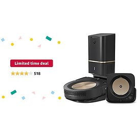 Limited-time Deal: IRobot Roomba S9+ (9550) Robot Vacuum & Braava Jet M6 (6112) Robot Mop Bundle - Wi-Fi Connected, Smart Mapping, Powerful Suction, Precision Jet Spray, Corners & Edges, Ideal for Multiple Rooms