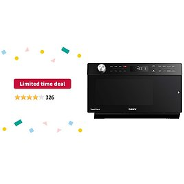 Limited-time Deal: Galanz GTWHG12BKSA10 4-in-1 ToastWave with TotalFry 360, Convection, Microwave, Toaster Oven, Air Fryer, 1000W/1.2 Cu.Ft, LCD Display, Cook, Sensor Reheat, Black