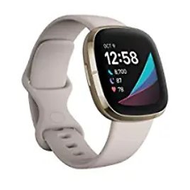 Get Fitbit Sense Advanced Smartwatch with Tools (White/Gold) from Amazon.com