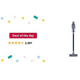 Deal of The Day: Shark IZ363HT Anti-Allergen Pet Power Cordless Lightweight Stick Vacuum with Self-Cleaning Brushroll PowerFins, Removable Handheld, Crevice, Dusting Brush, Pet Multi Tool, Flex, 50 Min Runtime, Blue