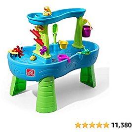 Step2 Rain Showers Splash Pond Water Table | Kids Water Play Table with 13-Pc Accessory Set from Amazon.