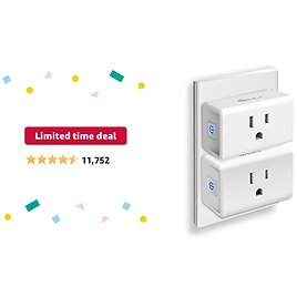 Limited-time Deal: Kasa Smart Plug Ultra Mini 15A, Smart Home Wi-Fi Outlet Works with Alexa, Google Home & IFTTT, No Hub Required, UL Certified, 2.4G WiFi Only, 2-Pack(EP10P2) , White