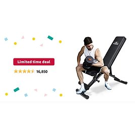 Get Flybird Workout Multi Purpose Foldable Incline/Decline Bench (2021 Version) (Black) from Amazon.com
