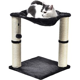 Amazon Basics Cat Condo Tree Tower with Hammock Bed and Scratching Post for $24.53