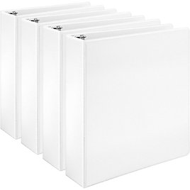 Amazon Basics Economy 3 Ring Binder, Showcase View Binder with 2 Inch D-Ring for #18.52