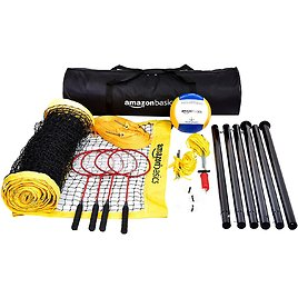 Amazon Basics Outdoor Volleyball And Badminton Combo Set With Net $84.26