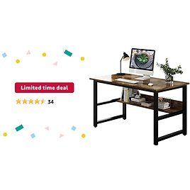 Get WDT Home Office Computer Desk (Charcoal Wood) from Amazon.com