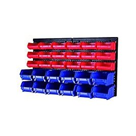 MaxWorks 80694 30-Bin Wall Mount Parts Rack/Storage for $26.93