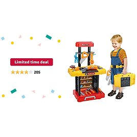 Limited-time Deal: UNIH Kids Tool Bench with Electric Drill Toddler Workbench Tools Set for Kids Pretend Play Learning Toy Tool Set, Indoor & Outdoor Toys for 2 Year Old Boys Gift