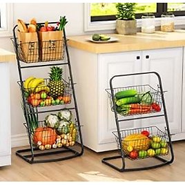 Fruit and Vegetable Storage with Removable Baskets - Kitchen Organizer 💕 from Amazon.