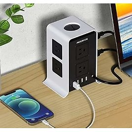 Power Strip Tower Surge Protector, 8 AC Outlets & 4 USB Ports, 10FT✨ from Amazon.