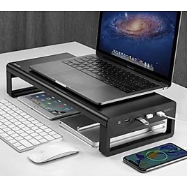 USB 3.0 Aluminum Monitor Stand Metal Riser Support💻 from Amazon.