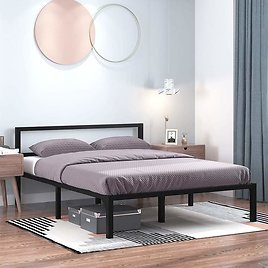 14 Inch Queen Platform Metal Bed Frame with Headboard from Amazon.