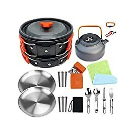Bisgear Camping Cookware Kit for $30.00
