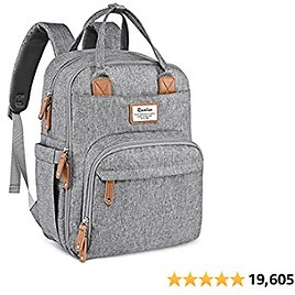 Diaper Bag Backpack, RUVALINO Multifuncti Travel Back Pack Maternity Baby Changing Bags, Large Capacity, from Amazon.