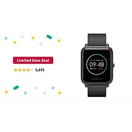 Amazfit Bip S Lite Fitness Waterproof Smartwatch with Heart Rate from Amazon.com