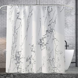 50% OFF On Marble Shower Curtain