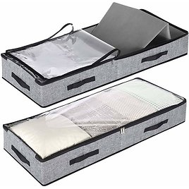 2 Pack Low Profile Under Bed Storage Containers from Amazon🤩