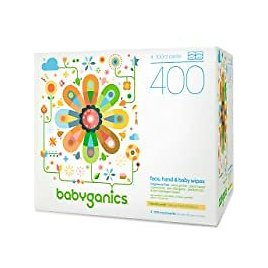400-Count Babyganics Fragrance Free Face, Hand & Baby Wipes for $9.74