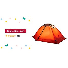 3-4 Season 2 3 Person Lightweight Backpacking Tent Windproof Camping Tent Awning Family Tent from Amazon.