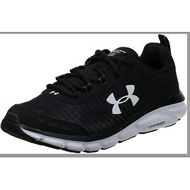 Under Armour Charged Assert 8 Mrble Running Shoes (Black/White) from Amazon.com