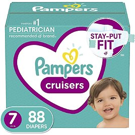 Diapers Size 7, 88 Count - Pampers Cruisers Disposable Baby Diapers for $39.68