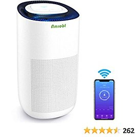 Hepa Air Purifier for Large Room, Amrobt Home Air Filter, H13 True HEPA, 4 Stage Filtration, Smart WiFi App Controlled Air Cleaner, Compatible with Alexa
