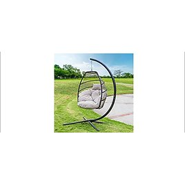 Barton Outdoor Hanging Lounge Egg Style Swing Chair (Various Colors) from Amazon.com