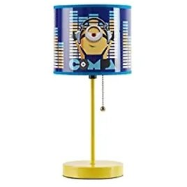 Idea Nuova Minions Stick Table Kids Lamp with Pull Chain (Themed Printed Decorative Shade) from Amazon.com