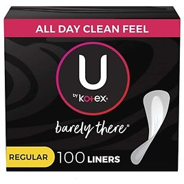 U By Kotex Barely There Thin Panty Liners for $3.36