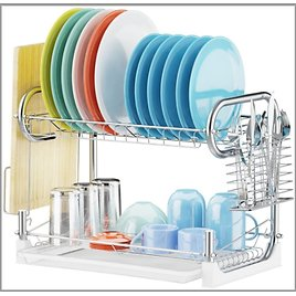 Veckle Dish Drying Rack from Amazon.