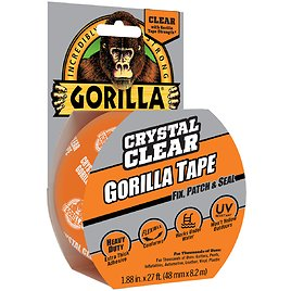 Gorilla Crystal Clear Tape, 1.88 Inch X 27 Ft Roll