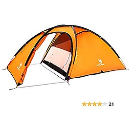 CAMEL CROWN 2-Person-Camping-Tents, Waterproof Windproof Tent with Front Hall, Aluminum Pole, Easy Set Up, Portable with Carry Bag, for All Seasons